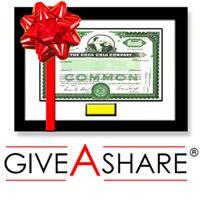 Buy Barrick Gold Stock Gold Frame Gift in 2 Minutes | #1 in Single Shares of Stock