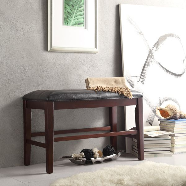 Colyton Black Brown Counter Height Bench By INSPIRE Q Classic