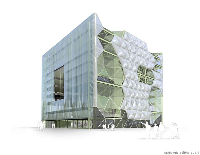 Cloud 9 media tic pneumatic etfe facade biomimicry in for Cloud 9 architecture