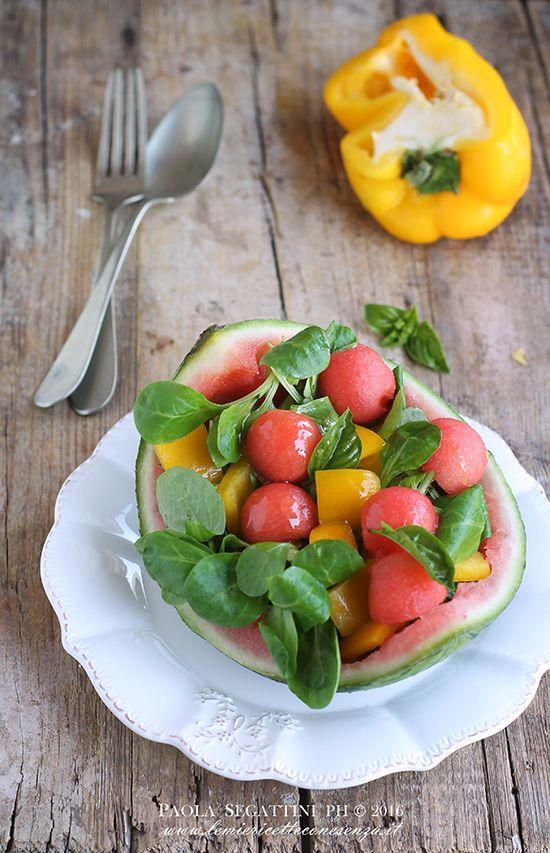 insalata di anguria e peperoni