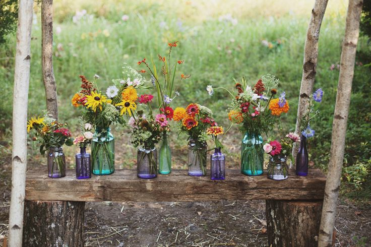 Life of a Vintage Lover: Hummingbird and Wildflower Wedding