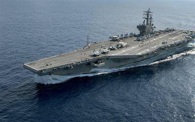 Scarica sfondi USS Ronald Reagan, CVN 76, portaerei della US Navy