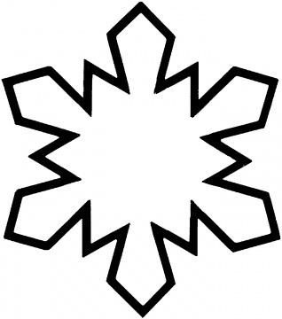 Dibujo de copo de nieve