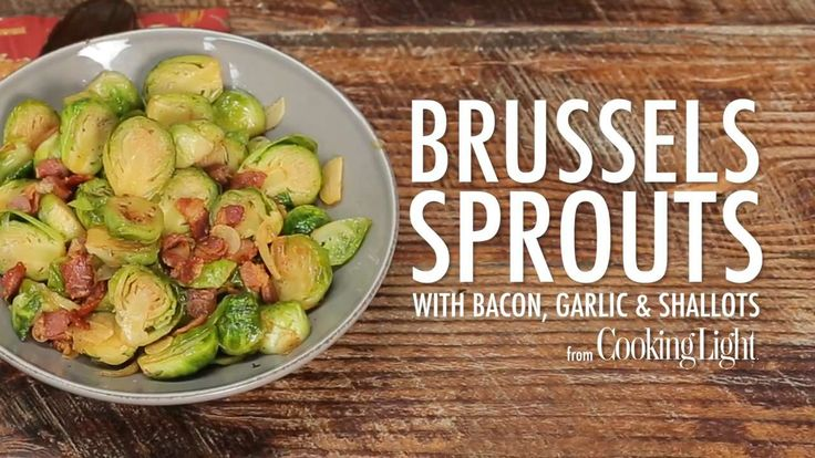How to Make Brussels Sprouts with Bacon, Garlic, and Shallots