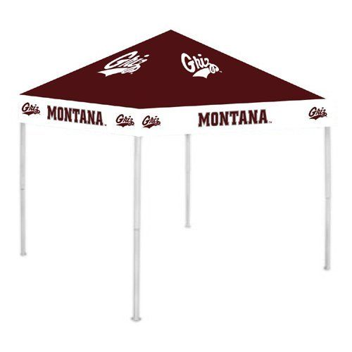Montana Grizzlies Ncca Ultimate Tailgate Canopy (9X9) by Rivalry Distributing. $315.95. Usually ships within 3-5 business days.. Stay cool and dry under the Ultimate Tailgate Canopy. Durable and water resistant 9 x 9 canopy. 12 wide valance with larger logos; 6 clearance from valance to ground. Heavy duty steel frame and 180g/m2 fabric. Easy to set up and take down! Three - Height adjustable.. Save 21% Off!