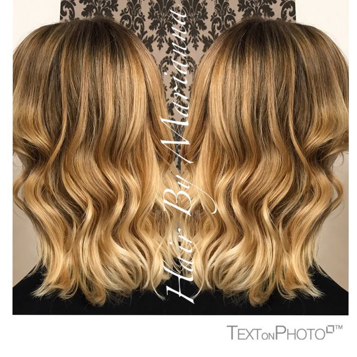 Beautiful honey blonde balayage Hair By Marianna