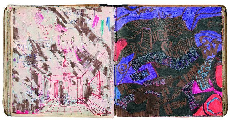 Yiğit Yazıcı art Sketch Book from 1990-1992