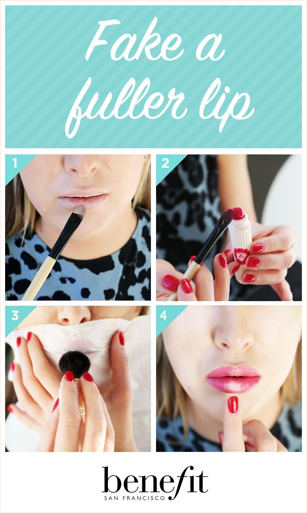 Fake a fuller lip with these simple steps xx
