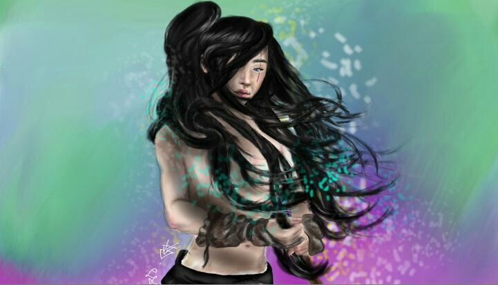 She is Akiko, the warrior ghost, main character of my book.