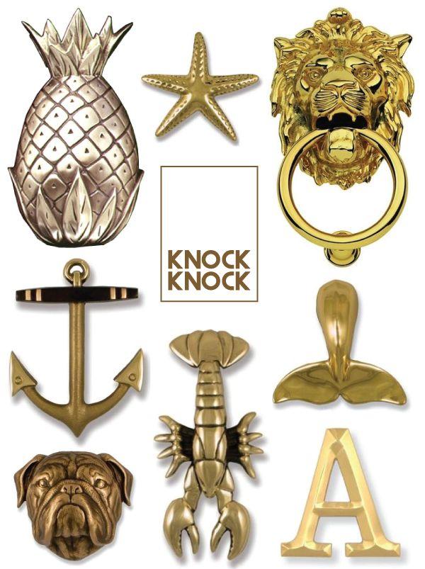 8 character-building door knockers.