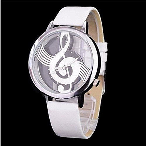 MP Women's Musical Note Casual Watch with PU Belt 050228 Color White XDP 0617 MP Watches