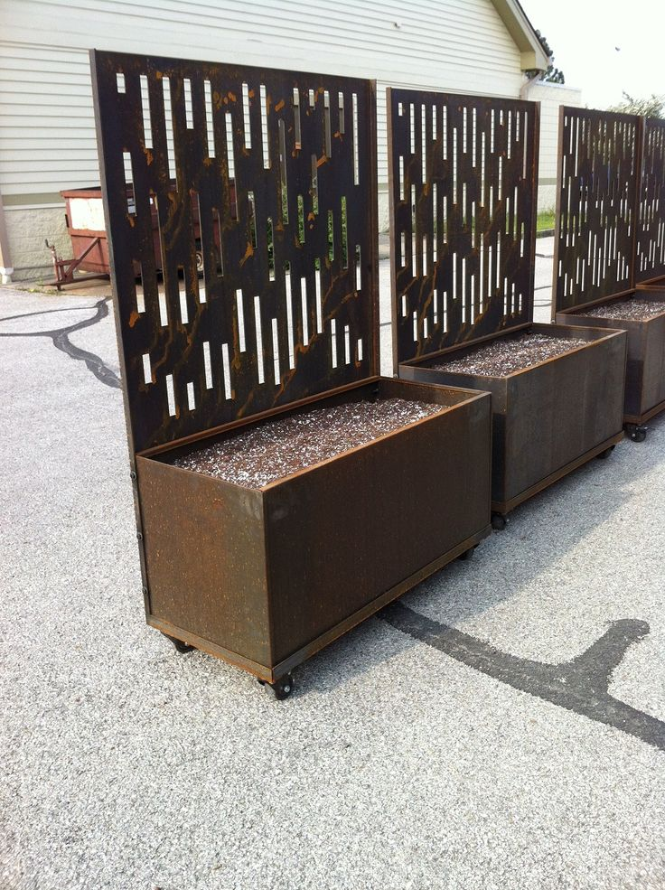 Best 25 corten steel planters ideas on pinterest steel for Privacy planter ideas