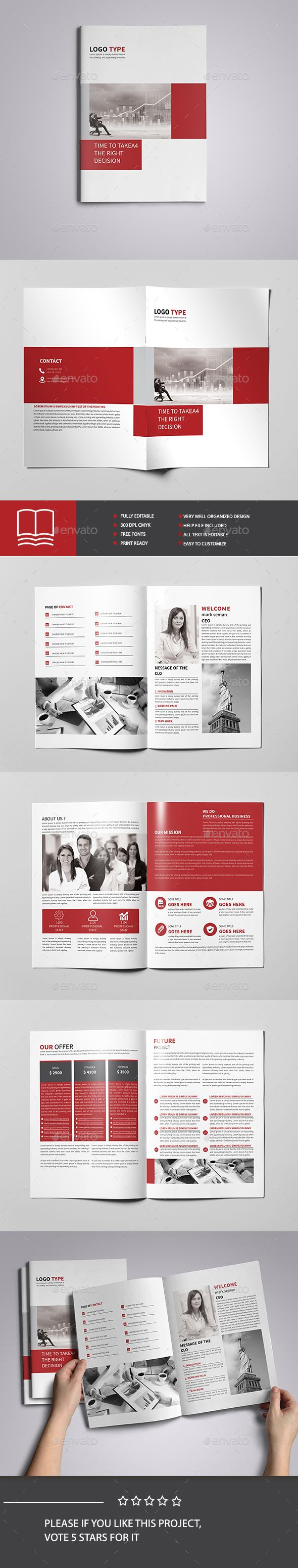 corporate brochure template 8 page brochures print templates