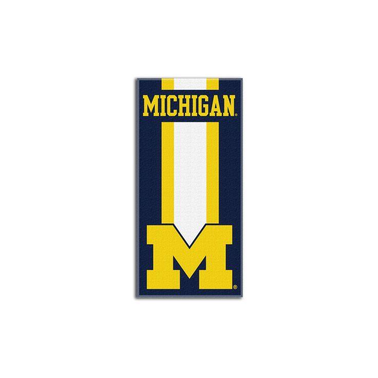 NCAAMichigan Wolverines Beach Towel, Michigan Wolverines - Blue