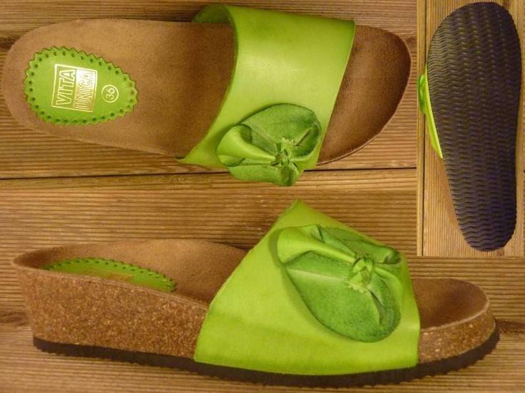 Bild: Vita Unica Sandalette mit echter Korksohle pistazie Gr.39 gesehen bei  www.