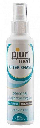Pjur Med After Shave - 100 ml fra Pjur - Sexlegetøj leveret for blot 29 kr. - 4ushop.dk - Beroligende & nærende. Gennem den daglige barbering af armhulerne og genitale område, kan huden blive følsom og betændelse og bumser kan opstå. Pjur Med After Shave Spray er en beroligende og fugtgivende spray som er udviklet til at imødegå dette. Pjur Med After Shave Spray brænder ikke på huden og nærer hævdede hud. Dermatologisk testet, smagløs og lugtfri og velegnet til alle kroppens regioner.