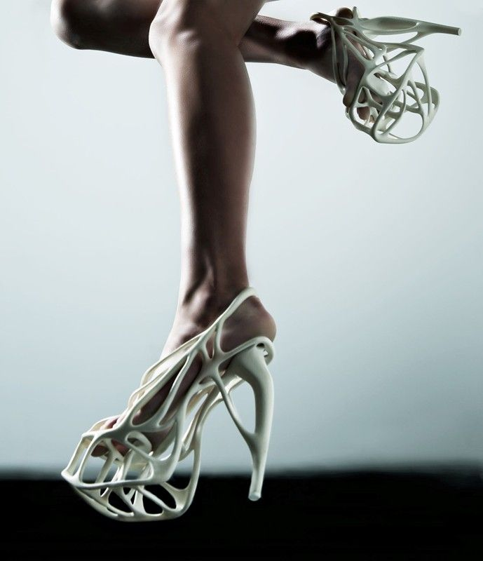 Naim Josefi created the first 3D-printed couture shoes in the world with no material waste
