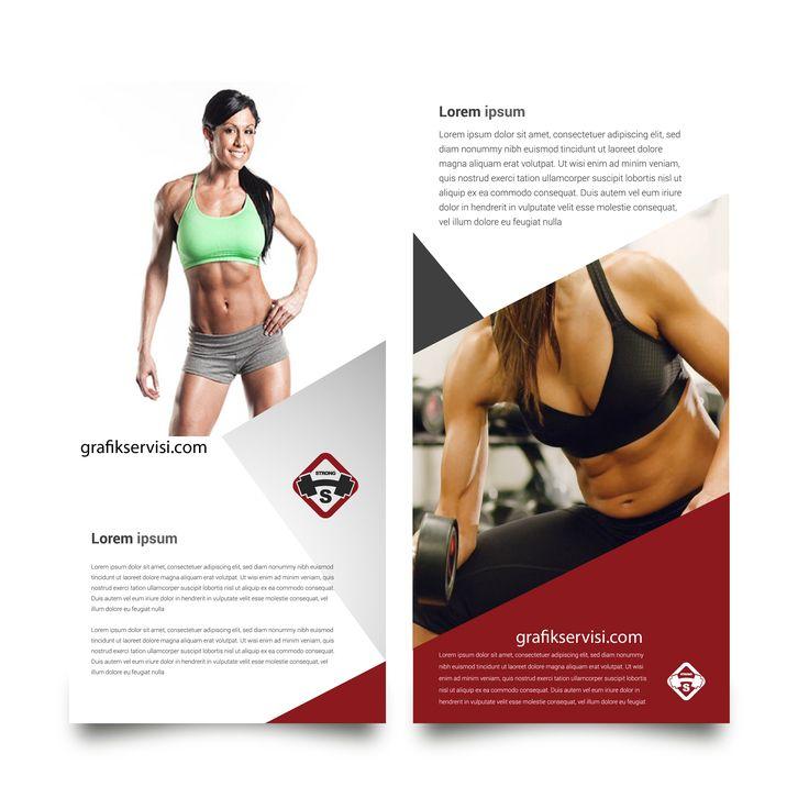 Kadın vücut geliştirme salonları için ücretsiz broşür tasarımı