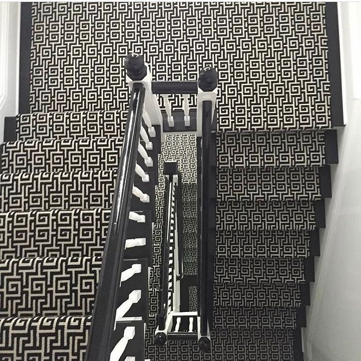 Gorgeous Stairs By @michellegersoninteriors Featuring Her Stark Carpet  Beaton Pattern @