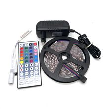 10M SMD 5050 RGB LED Strip Set 60LED/M Flexible Tape Home Decoration Lighting 44Keys IR Controller 12V 3A Power Supply Adapter(China (Mainland))