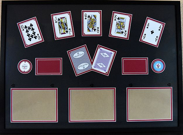 19 x 27 matted souvenir frame with your choice of las vegas casino playing