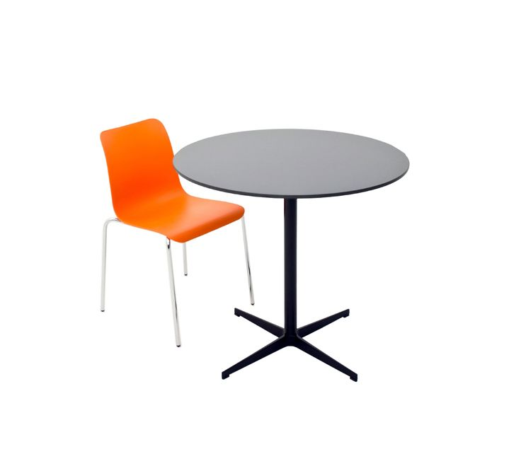 CROSS, Variety of table top options are available for Cross Table. The legs can be processed with static paint or shiny or matt chrome.
