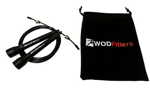 Amazon.com: WODFitters Ultra Speed Cable Jump Rope for Crossfit Training * Great for Double Unders, Triple Unders, RX WODs or Speed Jumping * 10 Foot, Adjustable to 9 Ft or 8 Ft, Works for Men, Women and Children * with Carrying Case *Latest Model * Super Fast, Ergonomic Handle for Better Coordination and Speed * Best Jump Ropes for Workout and Exercise * Satisfaction Guaranteed!: Sports & Outdoors