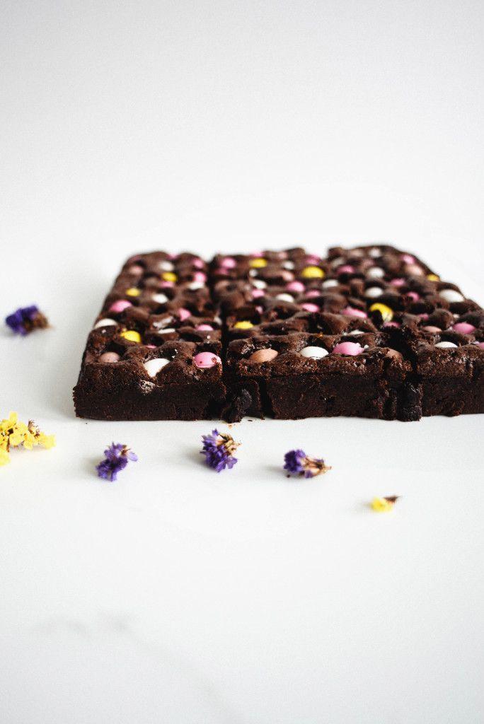 Speckled Egg and Lavender Brownies