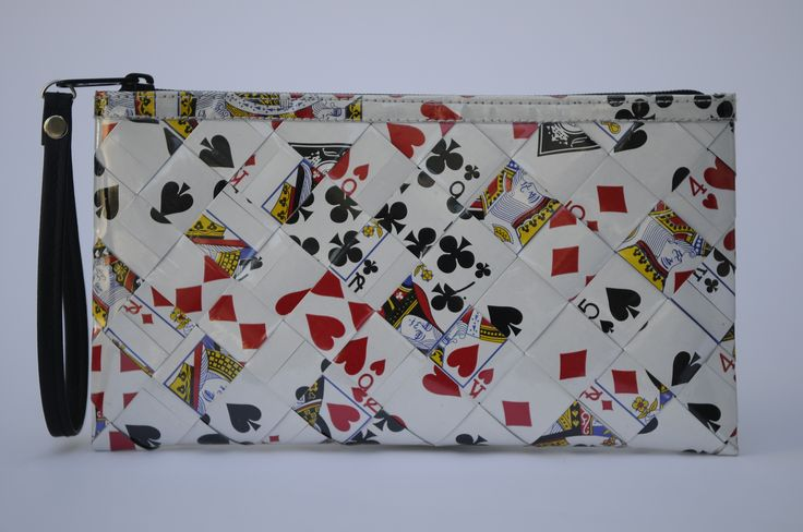 Zip clutch using  playing cards