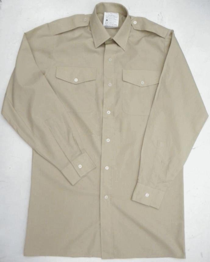 British army surplus fawn coloured uniform dress shirt LONG  SHORT sleeve