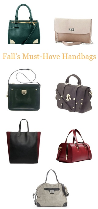 Must-have Fall handbags omg I love that satchel I'm such a satchel girl...whats up with that...