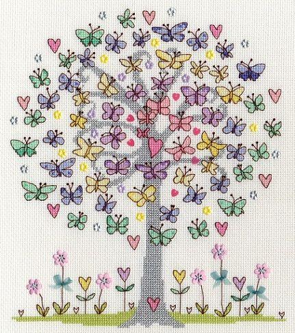 click here to view larger image of Love Spring (counted cross stitch kit)