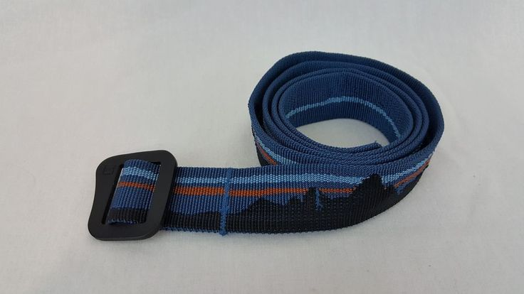Patagonia Friction Blue Moutain Scene Tech Web Adjustable Nylon Climbing Belt #Patagonia