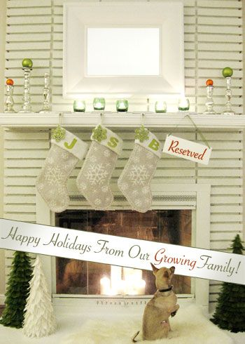 cute idea for Holiday pictures to show there is another on the way