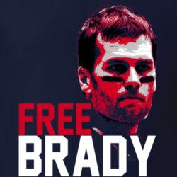 Free Tom Brady 4 Game Suspension New England Football T Shirt