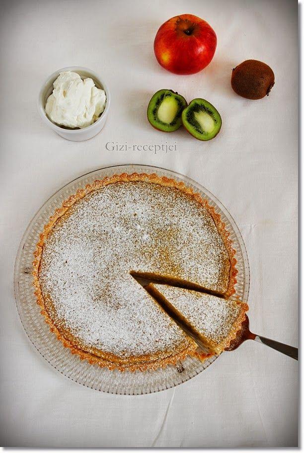 Gizi-receptjei.  Várok mindenkit.: Kiwis-almás pite.