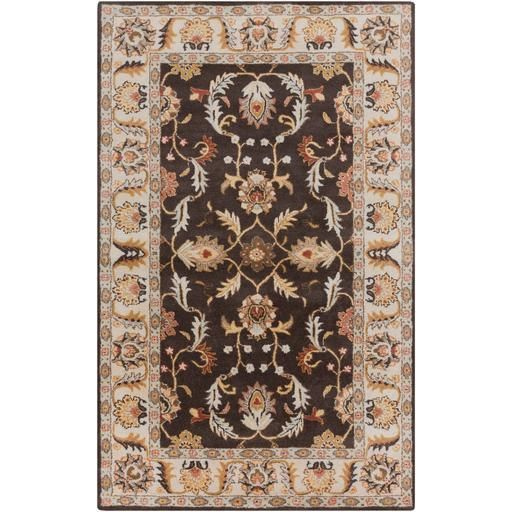Caesar CAE-1007 Brown Damask Rug  #rugs #decor #homedecor #dreamhome #diy #floordecor #floors #fab #classy #homeideas
