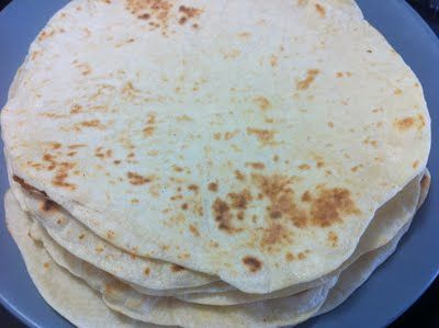 Homemade Flour Tortillas (No Lard or Shortening).... These were good, and EASY but I rolled mine as thin as I could get them and they still puffed up to thicker than store bought, but I'd use the recipe again.