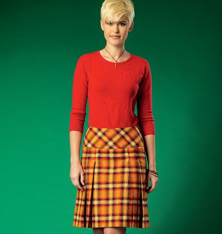 Misses' Pleated Skirts, M7022 http://mccallpattern.mccall.com/m7022-products-48841.php?page_id=96 #mccallspatterns