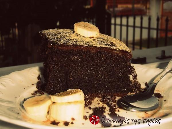 ΤΟ σοκολατένιο κέικ μπανάνας #sintagespareas