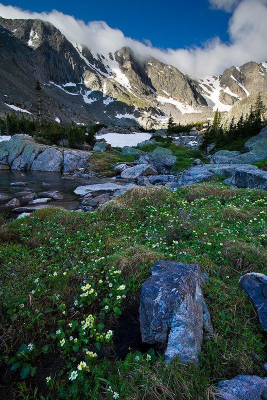 Loch Vale, Rocky Mountain National Park,Colorado, photo by Stan Rose