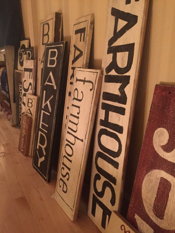 Farmhouse Hand Painted Signs For Sale In Auburn Wa Hand Painted Signs Barn Wood Signs Wooden Kitchen Signs