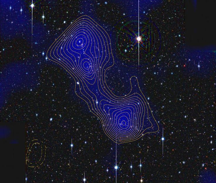 Supercluster-System Abell 222/223 mit Filament: Nach gängiger Meinung...