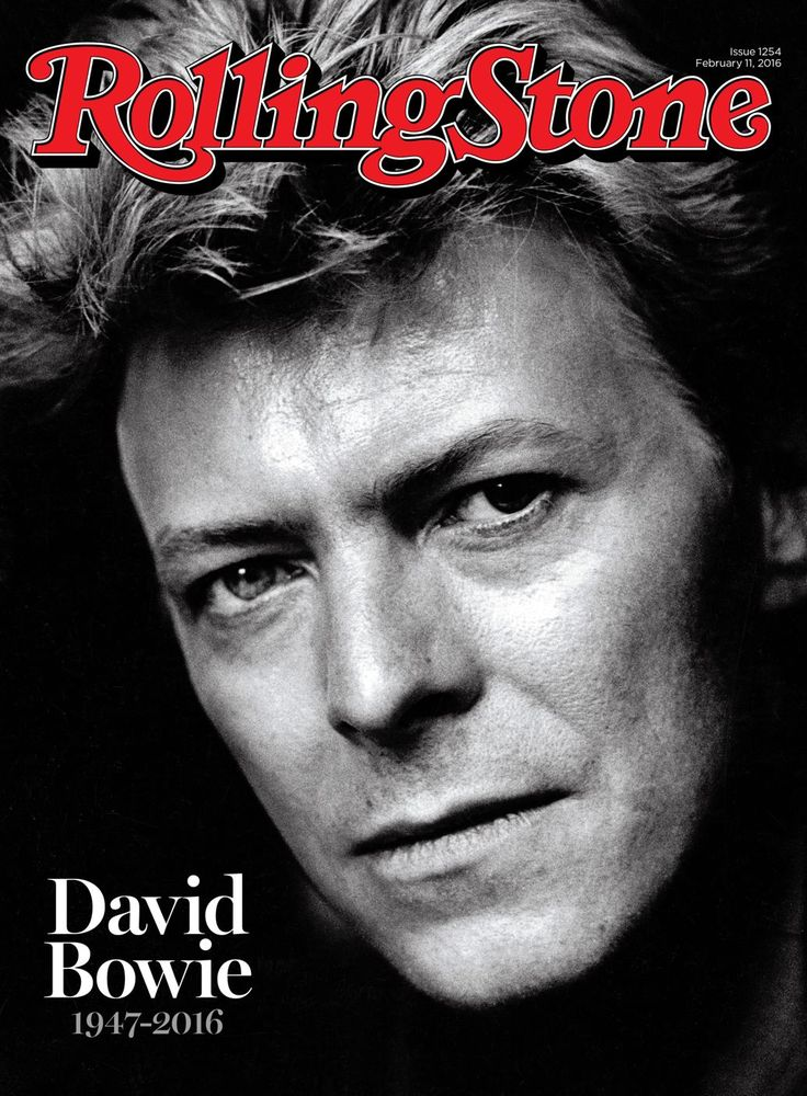 David Bowie on the February 11, 2016 cover.