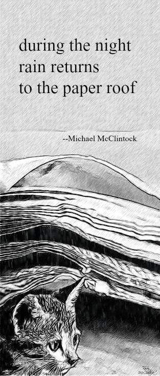 Haiku poem: during the night -- by Michael McClintock.