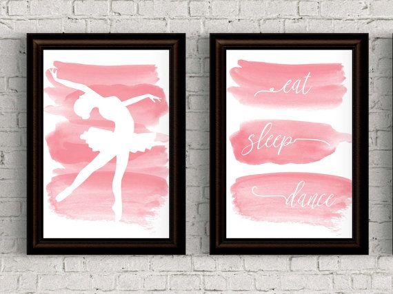 55% Off 5x7 set of 2 eat sleep dance ballet nursery by EllowDee