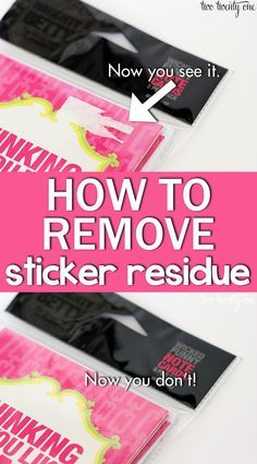 How to remove that pesky price tag sticker residue!  Use NON-ACETONE nail polish remover.