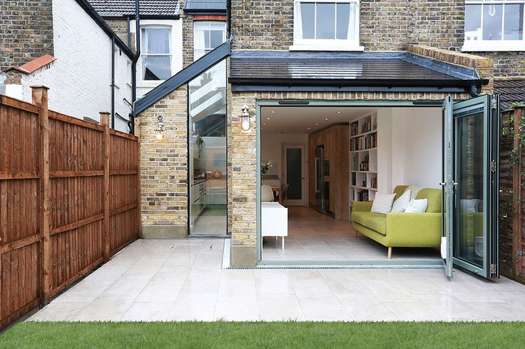 Separate side and rear kitchen extension in Balham.
