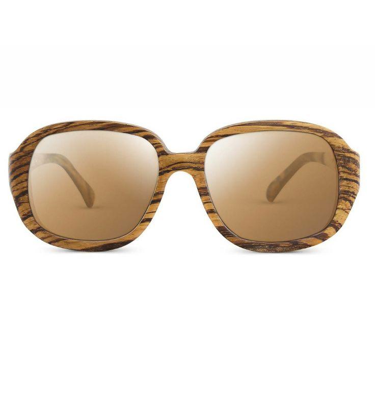 Zazie Polarized Wooden Sunglasses