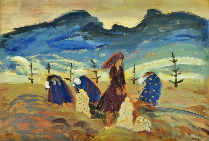 Ženy na poli, BAZOVSKÝ MILOŠ ALEXANDER (1899 - 1968)